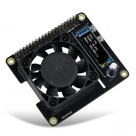 RGB Cooling HAT with fan and OLED for 4B/3B+/3B