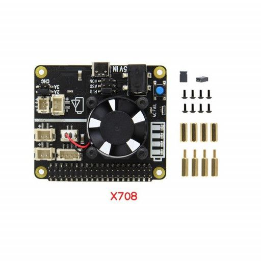 Raspberry Pi X708 Power Management and UPS HAT