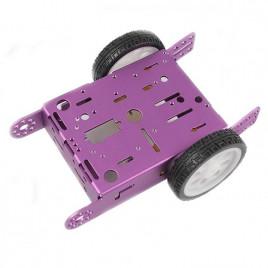 Aluminum 2WD TT Robot/Motor Chassis - Purple