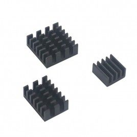 Raspberry PI 4 Heatsink Set (3pcs) Black