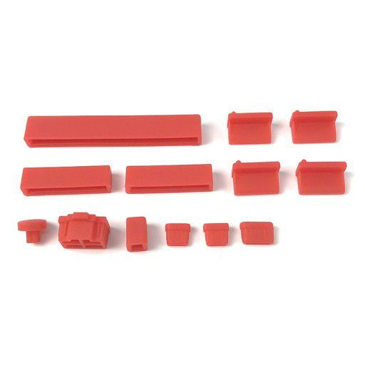 Anti Dust Silicone Covers for Raspberry Pi 4B - Red