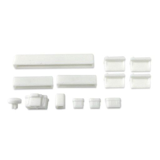 Anti Dust Silicone Covers for Raspberry Pi 4B - White