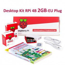 Raspberry Pi 4B 2GB Desktop Kit-EU Plug