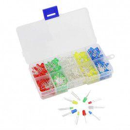5mm/3mm LED Kit Box, 5 Colours (125pcs)