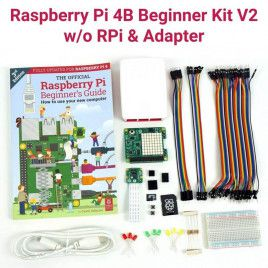 Raspberry Pi 4B Beginner Kit V2-w/o RPi and Adapter