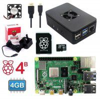 Raspberry Pi 4 Model B 4GB Basic Kit-UK Plug