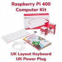Raspberry Pi 400 Computer Kit-UK Layout and UK Power Plug