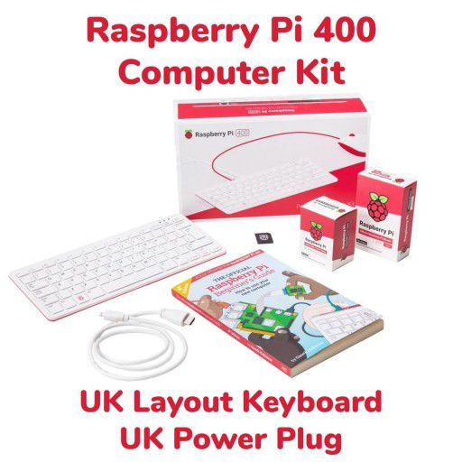 Raspberry Pi 400 Computer Kit-UK Layout and UK Power Plug
