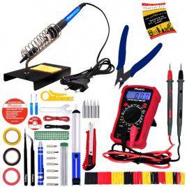 Soldering Iron Kit with Digital Multimeter-EU Plug