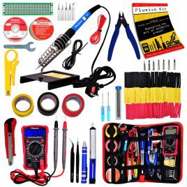 Soldering Iron Kit with Digital Multimeter (UK Plug)