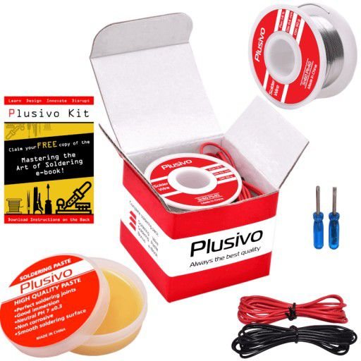 Basic Soldering Wire and Rosin Paste Kit