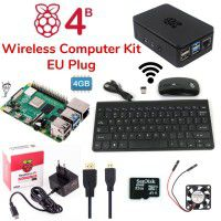 Raspberry Pi 4B 4GB Wireless Computer Kit-EU Plug