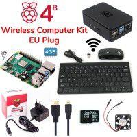 Raspberry Pi 4B 4GB Wireless Computer Kit-EU Plug