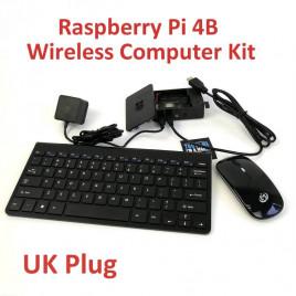 Raspberry Pi 4 Wireless Computer Kit UK Plug