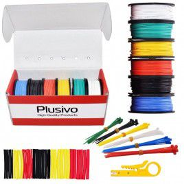 22AWG Hook Up Wire Kit 6-color Solid Tinned Wire