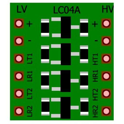 Logic Level Converter - 4 Channels Bi-directional
