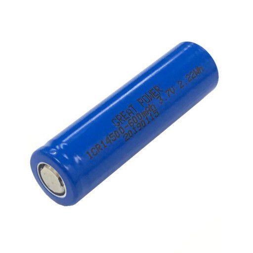 14500 Li-Ion Battery 3.7V 600mAh