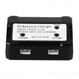 2x2S 7.4V LiPo Battery USB 5V Balance Charger
