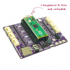 Maker Pi Pico Base (without Pico): Simplifying Pi Pico for Beginners