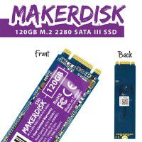 120GB M.2 2280 MakerDisk SATA III SSD with RPi OS
