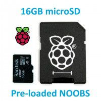 16GB Micro SD Card with NOOBS for RPI