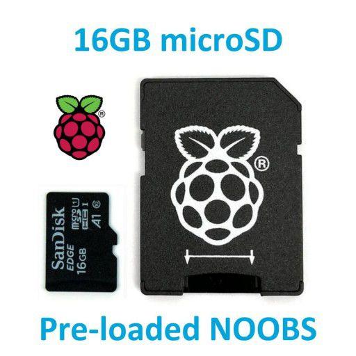 Thẻ nhớ Micro SD 16GB cài sẵn NOOBS cho RPI
