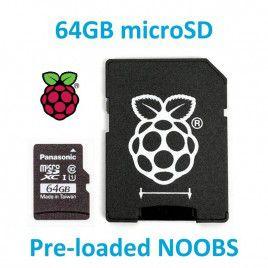 Thẻ nhớ Micro SD 64GB  với NOOBS cho RPI