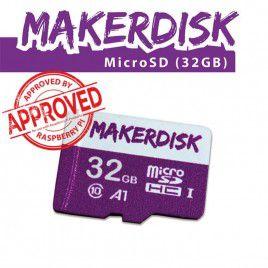 Thẻ nhớ microSD MakerDisk 32GB (đã cài sẵn RPi OS) - Được kiểm định bởi Raspberry Pi