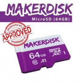 Thẻ nhớ microSD MakerDisk 64GB (đã cài sẵn RPi OS) - Được kiểm định bởi Raspberry Pi
