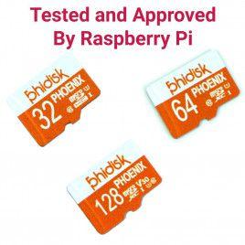 RPi Approved Phidisk Class10 MicroSD