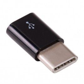 USB micro-B to USB-C adapter (Black)
