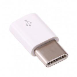 USB micro-B to USB-C adapter (White)