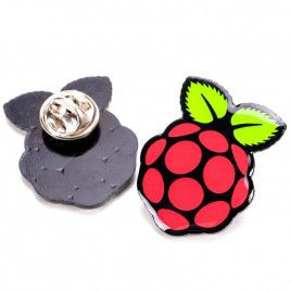 Raspberry Pi Logo Pin Badge