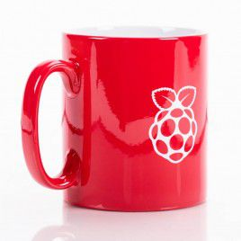 Raspberry Pi Red Ceramic Mug