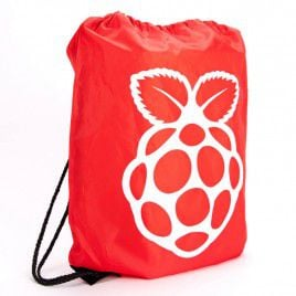 Raspberry Pi Red Drawstring Bag - Large
