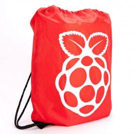Raspberry Pi Red Drawstring Bag - Large