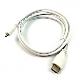 Raspberry Pi Micro-HDMItoStandardHDMI, 2m White