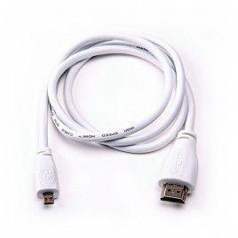 Raspberry Pi Micro-HDMItoStandardHDMI, 1m White