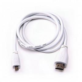 Raspberry Pi Micro-HDMI to Standard HDMI, 1m White