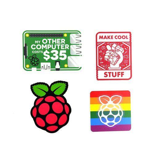 Raspberry Pi Sticker - 4 in 1 Set