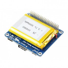 Quick Charge LiPo Battery HAT for Raspberry Pi
