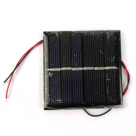 Solar Cell/Panel 3V 160mA (0.48W) Wire Soldered