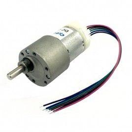 12V 225RPM 1.3kgfcm Brushed DC Geared Motor with Encoder