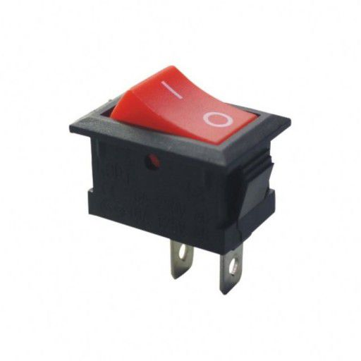 2-Pin KCD1-101 Rocker Switch 6A/250V Red