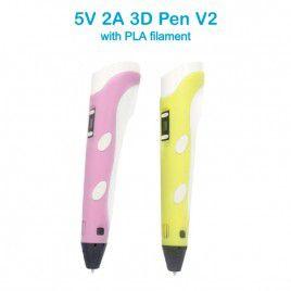 5V 3D Pen V2 with PLA Filament