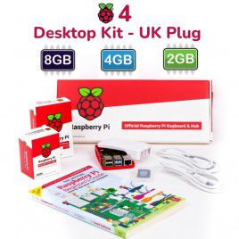 Raspberry Pi 4 Model B Desktop Kit - UK Plug