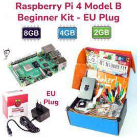 Raspberry Pi 4 Model B Beginner Kit-EU Plug