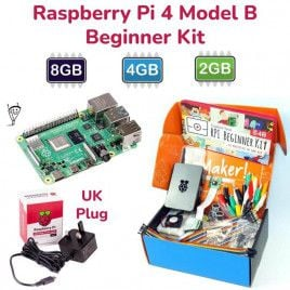 Raspberry Pi 4 Model B Beginner Kit-UK Plug