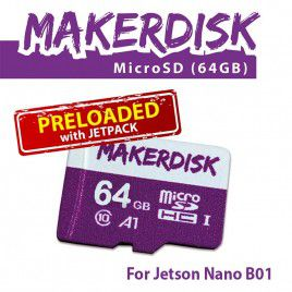 64GB MicroSD with JetPack for Jetson Nano B01 (4GB)