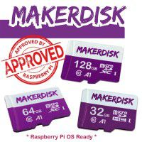 Raspberry Pi Approved MakerDisk microSD Card with RPi OS